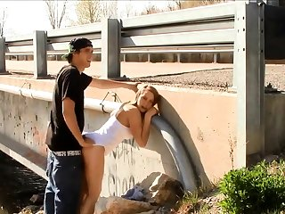 Quickie Sex by a Bridge nearly Traffic