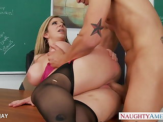 MILF Teacher Sara Jay be hung up on student