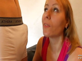 French mom hard sodomized wits young ladies' with cum to mouth