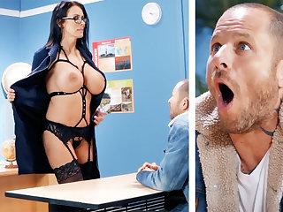 Sexy teacher hardcore fucks schoolboy elbow school