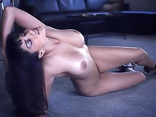 Naked cosset Sunny Leone on the office floor