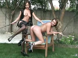 Kinky Krissy Thorn is pocket watch some evil lesbian intercourse outdoors