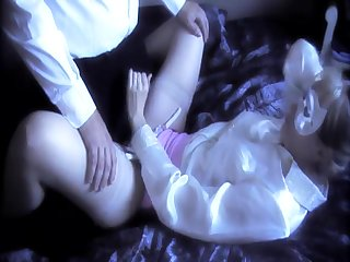 FULLBACK Huff and puff - PANTY FUCK - PINK Customize AND WHITE SATIN Huff and puff