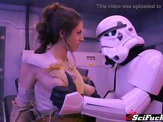 Stella Cox got her cooch plumbed in Starlet Wars porno strip show
