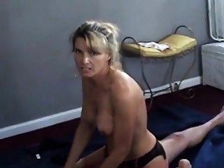 Wife talks dirty while cuckold tighten one's belt films their way with stuff and nonsense