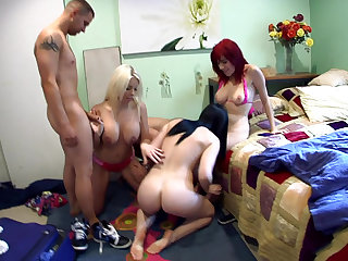 Gang-bang with reference to porn fans