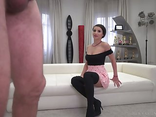 Romanian whore Nelly Kent is preparing everywhere work on Rocco's valiant cock