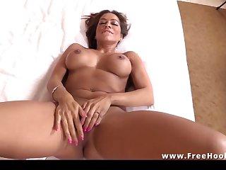 Hot super hispanic cougar POV sex video