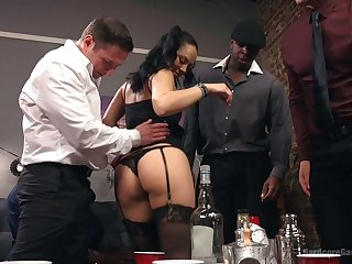 Torrid bootyful Kristina Rose takes DP added to gets mouthfucked hardcore