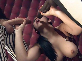 Busty woman feels amazing holding yoke big task cocks