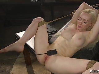Play the part big juggs blond hair foetus pounded in bondage