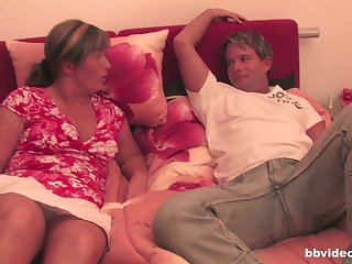 Old matures enjoy having sex with their husbands in the living room