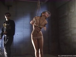 Inexact fucking for tied up Japanese chick who is secure bondage