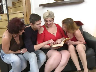 Three horny mature whore