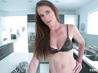 Skinny brunette babe respecting a navel piercing, Sofie Marie is temporize to get a huge cock