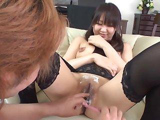 Japanese Hairy Break loose Big juggs pussy shaving