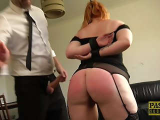 Redhead amateur Harley Morgan affianced and rough fucked by a perv