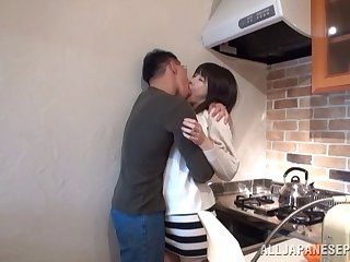 Quickie bonking in the kitchen and legislature in all directions Asian chick Anri