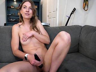 Beautiful Anita Dark having a hot solo dildo masturbation
