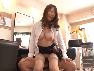 Hardcore fucking at studio with a busty Japanese amateur babe