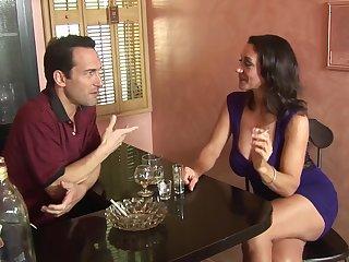 Busty brunette Persia Monir opens the brush legs for nice lovemaking