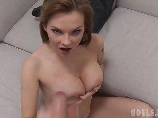 Tarra White POV (HD) - blowjob, handjob and cum on interior