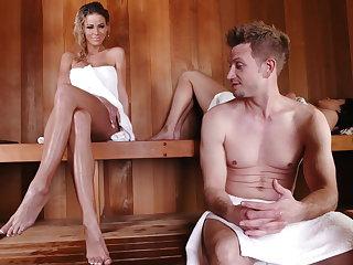 Sneaky sauna sex